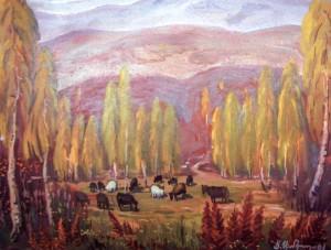 Берізки за с. Пузняківці, 2001, п.о., 80х100