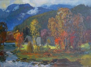 'Autumn Mountain Landscape'