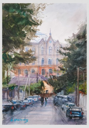 From the series 'Watercolour scenes of Uzhhorod'