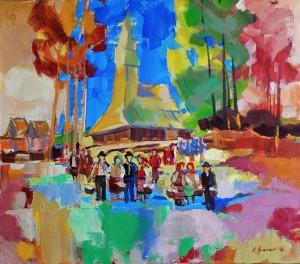Дуленко Я. Великодні кольори, п.о., 65х70