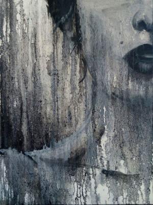Блакитні очі плачуть в дощ, 2016, п.о., 65х85