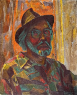 Self-portrait In A Hat, 2005, oil on canvas, 50x40