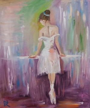 'Ballerina '(copy), 2017, oil on canvas