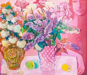 O. Kondratiuk Diptych 'Bouquets', oil on canvas, 60x70