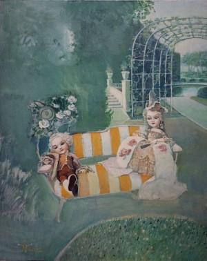 В саду, 2005, п.о., 80х60