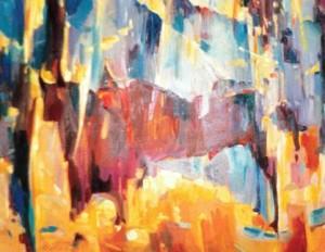 Осіння земля, гобел.ручн.ткацтво, 2001, 70х60