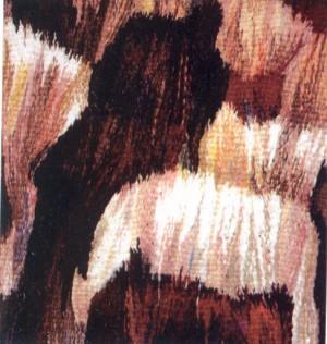 Пастух, 2003, гоб.,вов., руч.ткац., 50х50