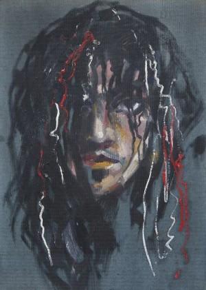 Автопортрет, п.о., 1989