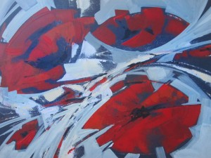 N. Myronchuk-Didyk 'Poppies I', 50x70