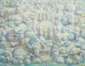Верховинська зима, 1980, п. темп., 83х107