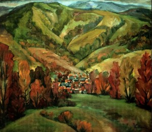 The Colourful Verkhovyna, 2007, masonite on canvas, 82x90
