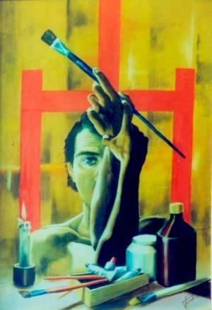 Художник, 1995, п.о., 100х80