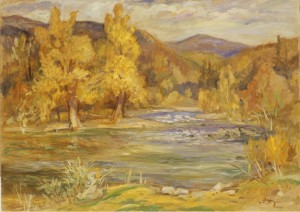 In the Headwaters of the River Tisza, 1990, oil on canvas,  50,5х71