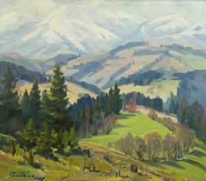 Mountain Panorama, 1979, oil on canvas, 79x90