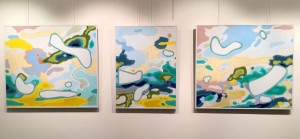 Triptych .Atmosphere from Cyprus. acrylic on canvas 245х81