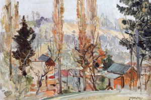 Early Spring, 1950, oil on cardboard, 49,5х71