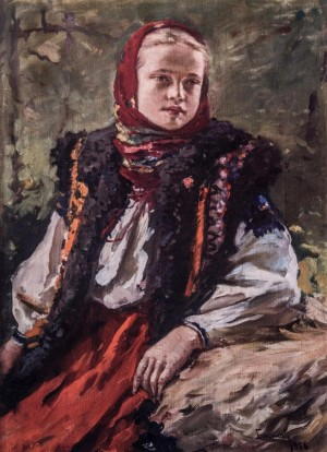 Vasylyna, 1956, oil on canvas, 70x51