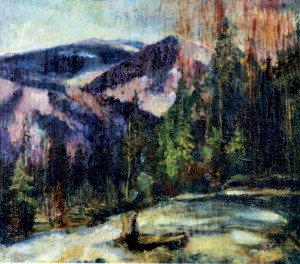 Early Spring in the Mountains, 1940, oil on plywood, 36x41