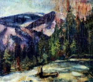 Рання весна в горах, 1940, фанера, о., 36х41