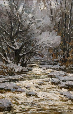 O. Fediaiev 'Winter Stream', 2015