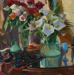 Flowers, 2008, oil on canvas, 80x80