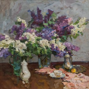 S. Zakharov Still Life With Lilac', 1970s