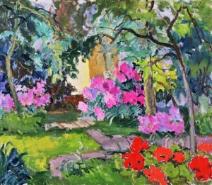 In the garden of the artist, 1955