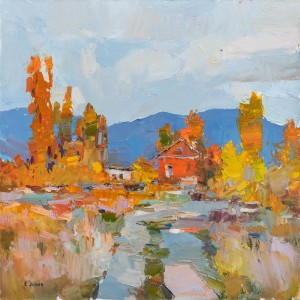 Y. Dulin Autumn In Transcarpathia', 2018, oil on canvas, 50x50