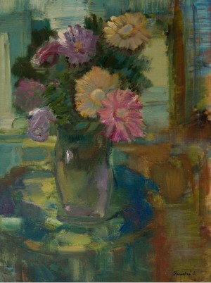 Gerberas, 2004, oil on canvas, 60x80