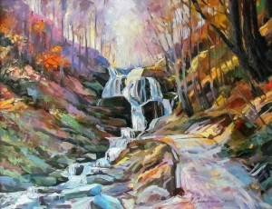 A. Sakalosh Waterfall Shypit', 2012, oil on canvas, 58x75