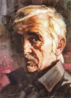 Скакандій В. 'Автопортрет', 2006, акв., 36х27