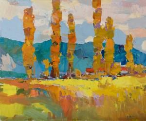 Дулін Є. 'Осінь у горах', 2018, п.о., 50х60