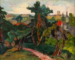 A. Erdeli Uzhhorod Castle. Residence Of Bishop', 1942, oil on canvas, 100х121