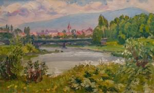 M. Hresko Landscape Overlooking The Bridge', 2007
