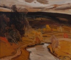A. Kashshai Autumn Evening', 1983, oil on canvas, 59,5х69,8