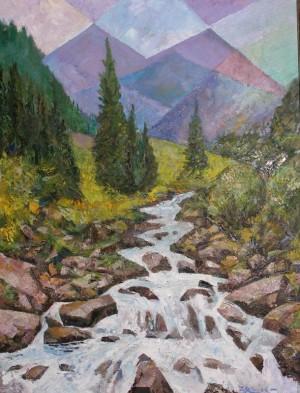Mountain Stream', 80x60