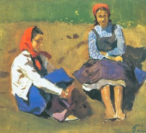 Rest, 1956, oil on canvas, 36,5х40,5