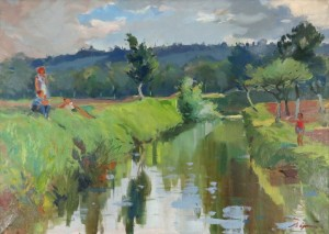 Near The River, oil on canvas, 67x97
