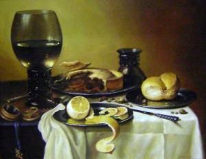 Вишневий пиріг, 2009, п.о., 50х40