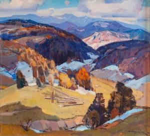 A. Kashshai The Last Snow', 1971, oil on canvas, 90x98