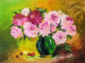 H. Matii Peonies And Cherries'