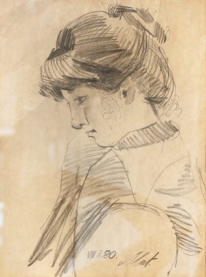 L. Mykyta 'Sister', 1980, pencil on paper