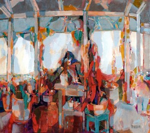 Terrace. Flower Paradise, 2008, oil on canvas, 80x90