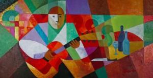 A Guitarist', 2008, 80x160
