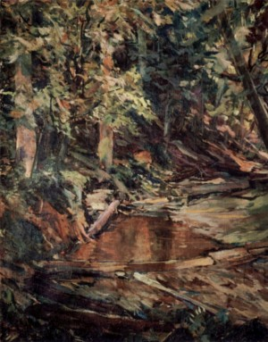 Stream in the Mountains, 1940, oil on canvas, 94x76