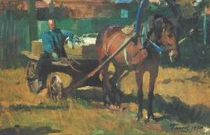 Driver, 1950, oil on canvas, 39,5х60