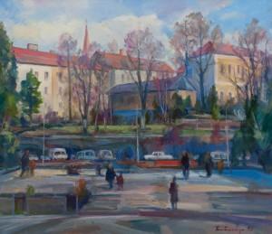 Y. Babynets 'Poshtova Square In Uzhhorod'