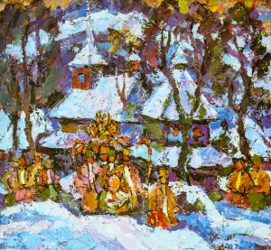 Christmas Motive In Verkhovyna, 1990
