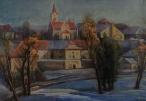 Кліса Я. 'Ужгород. Богольваар', 2018, пап.паст., 70х100