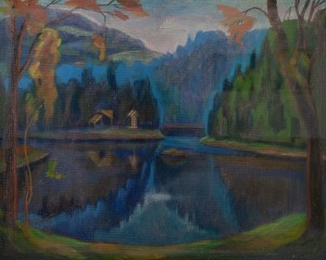 L. Mykyta 'Lake Synevyr', pastel on paper